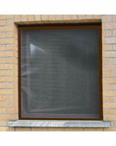 aluminium-vliegenraam-bruin-100x120cm