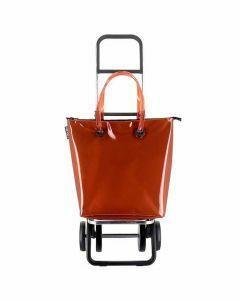 mini-bag-plus-boodschappentrolley-oranje-opvouwbaar-frame-draagriemen