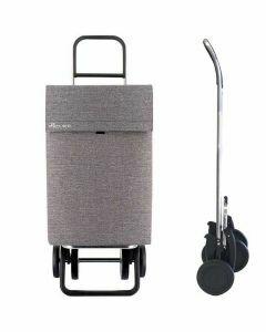 jean-grijs-tweed-rolser-boodschappentrolley-strak-design-boodschappentas-frame-inklapbaar-4-wielen-extra-licht-soft-grip