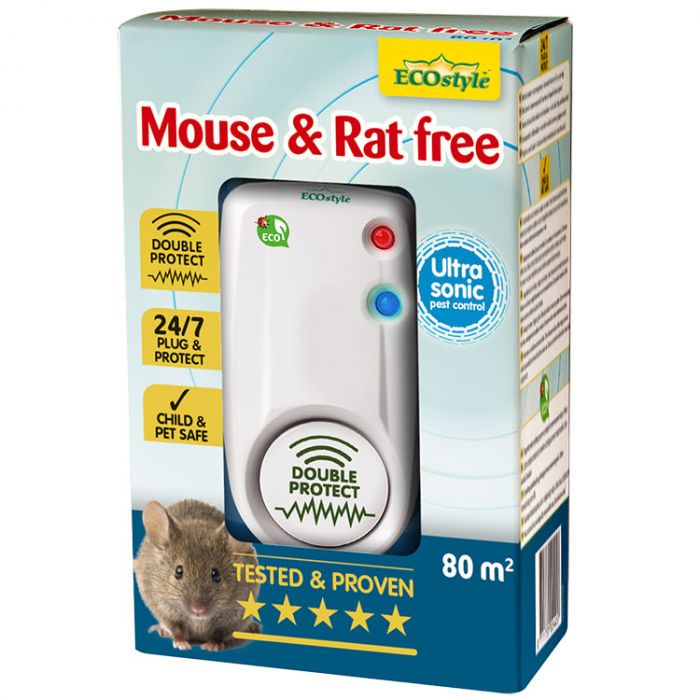 Ultrasone Verjager Ecostyle - Mouse & Rat Free 80