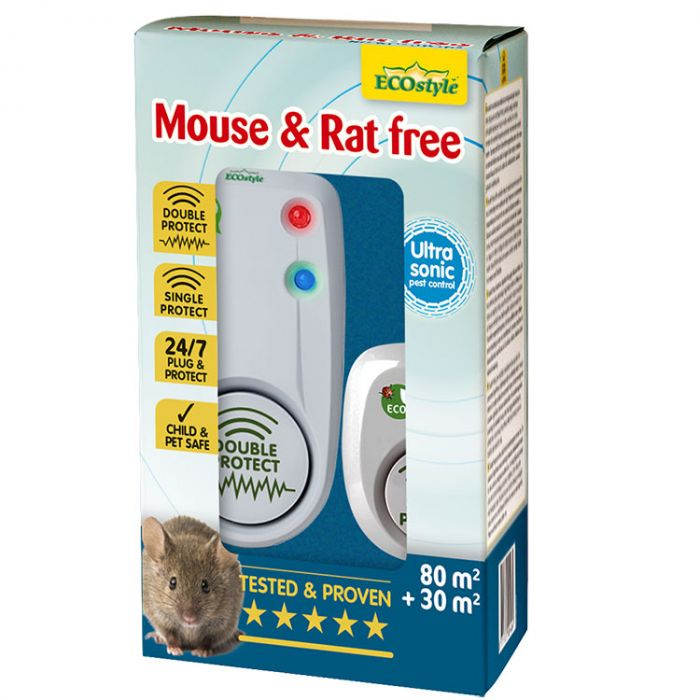 Ecostyle Ultrasone Verjager - Mouse & Rat Free (Duopack 80 + 30)